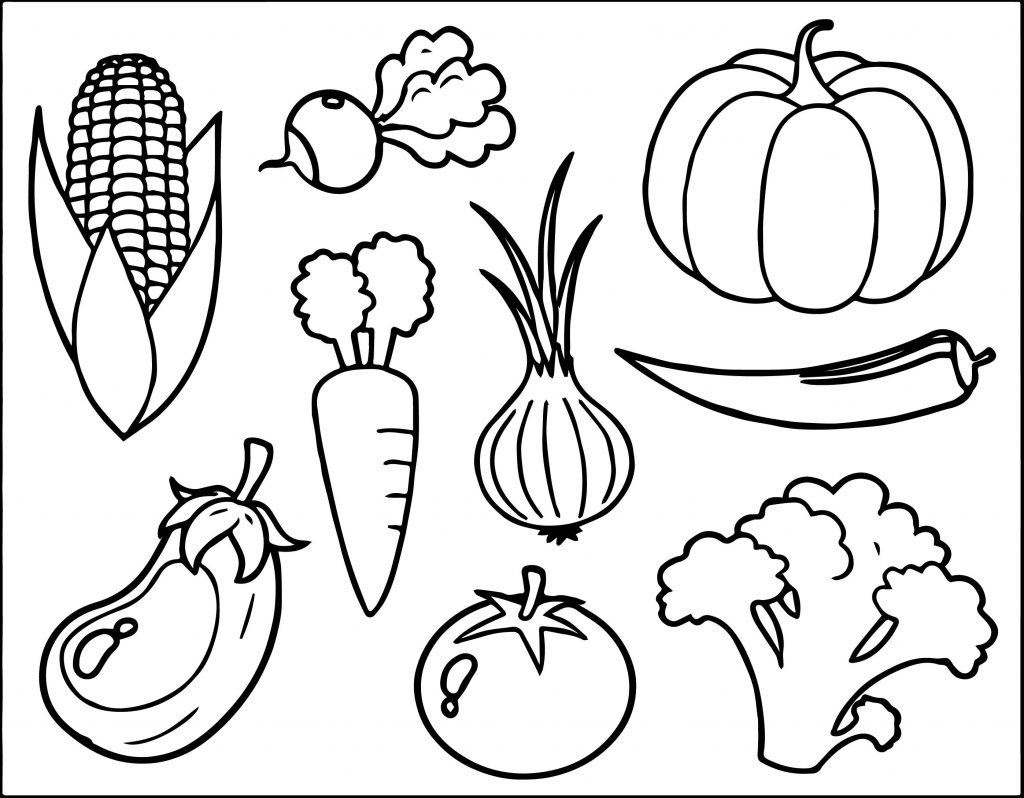 printable vegetable coloring pages vegetables coloring page wecoloringpagecom coloring printable pages vegetable