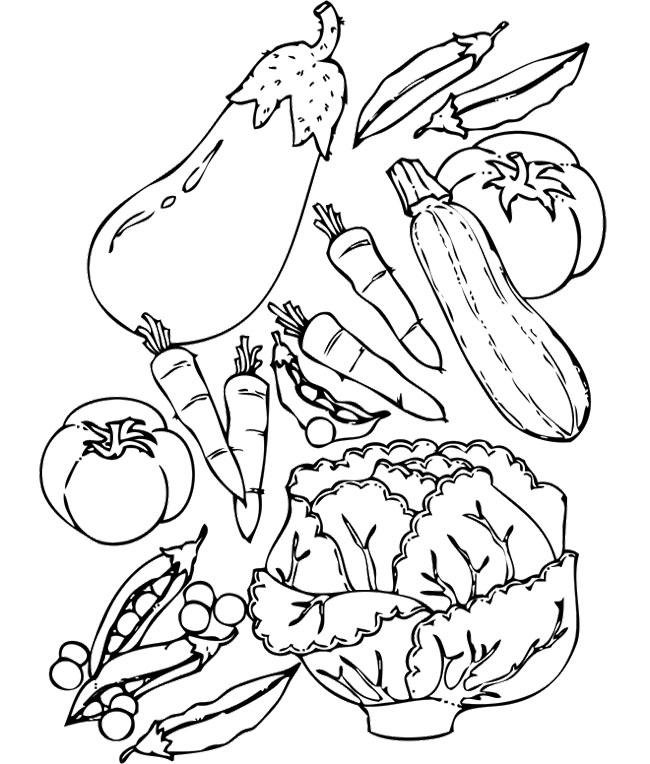 printable vegetable coloring pages vegetables coloring pages getcoloringpagescom pages coloring printable vegetable