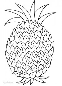 printable watercolor pages printable pineapple coloring pages for kids cool2bkids watercolor printable pages