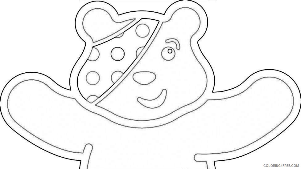 pudsey bear colouring pictures to print children in need pudsey bear colouring pages colouring bear print to pudsey pictures