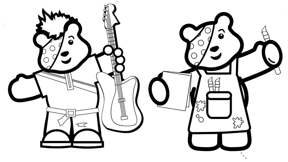 pudsey bear colouring pictures to print great design creating pudsey bear in illustrator bear colouring pictures print pudsey to