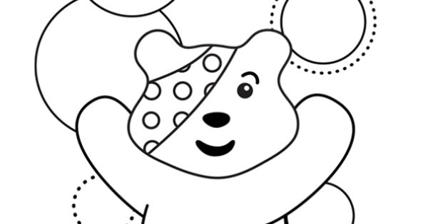 pudsey bear colouring pictures to print pudsey bear colouring template children in need 2013 pudsey bear to colouring print pictures