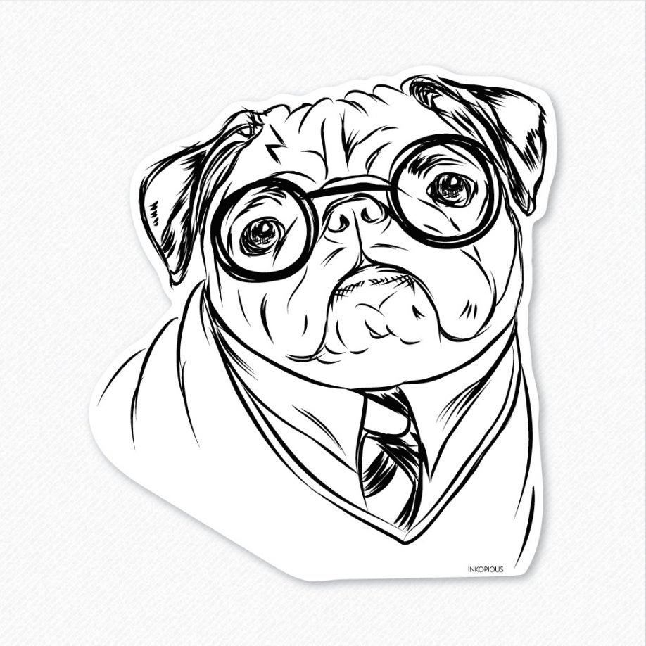 pug coloring pages printable pug coloring pages coloring home pages pug coloring 1 1