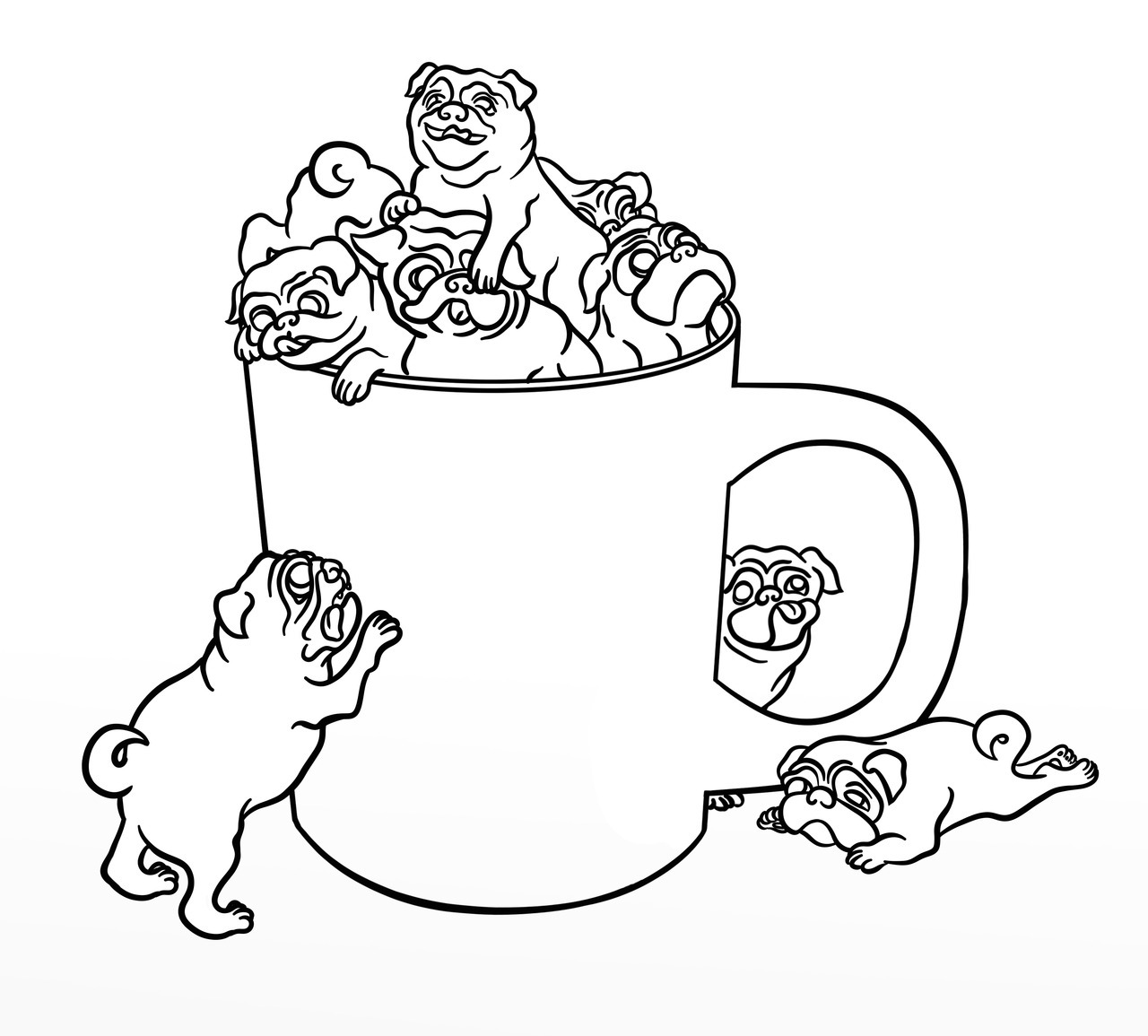 pug coloring pages pug coloring pages getcoloringpagescom coloring pages pug