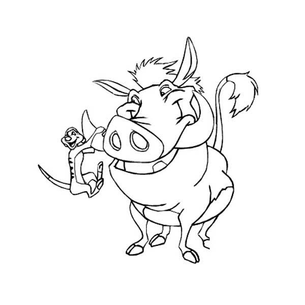 pumba coloring pumba pages coloring pages pumba coloring 1 2