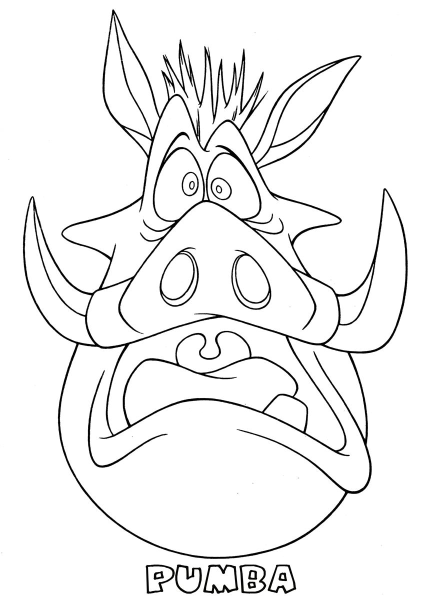 pumba coloring pumba scared the lion king coloring page coloring pumba