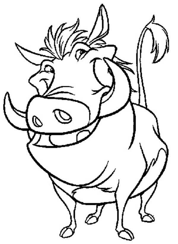 pumba coloring timon and pumbaa awesome pumbaa in timon and pumbaa coloring pumba