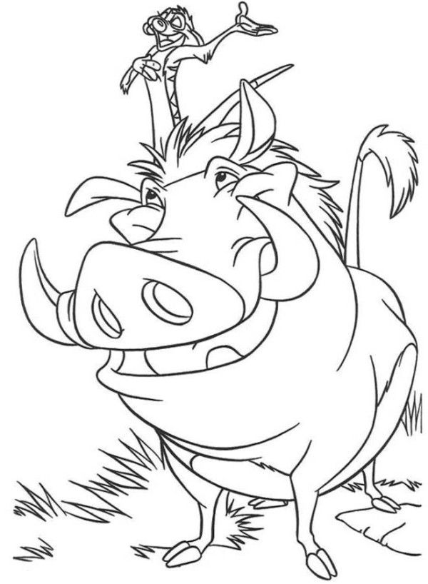 pumba coloring timon and pumbaa the lion king coloring page coloring 4 coloring pumba