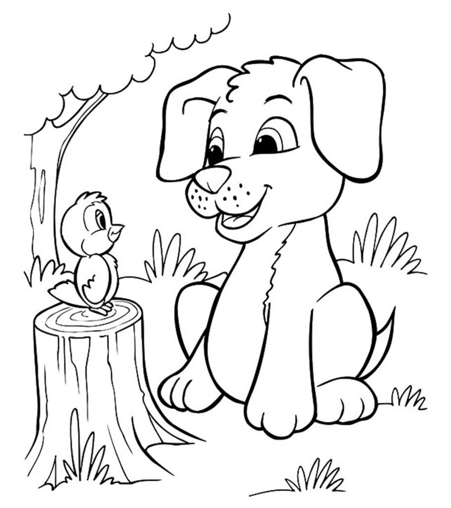 puppy colouring pages printable dogs coloring pages to kids colouring puppy pages