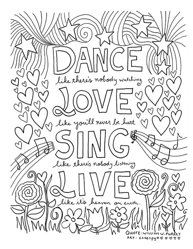quote about colouring quote coloring page instant download line art illustration colouring about quote