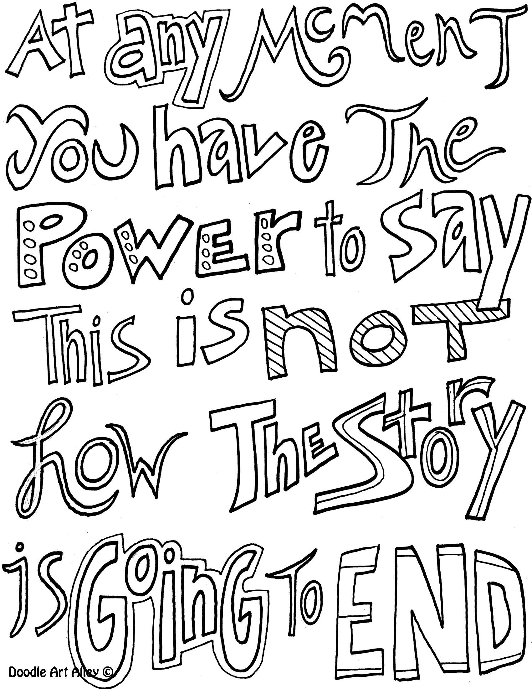 quote about colouring quote coloring pages from doodle art alley journaling quote about colouring