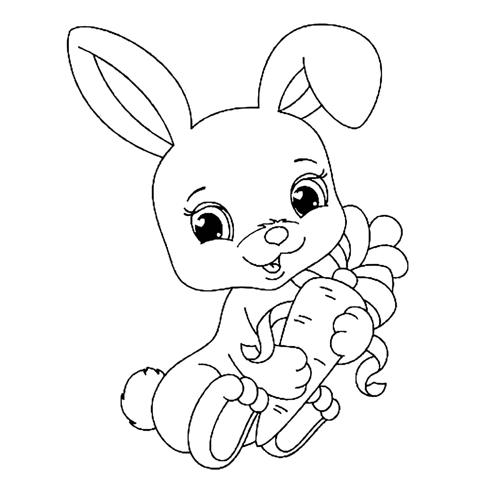 rabbit picture for colouring free printable rabbit coloring pages for kids for picture rabbit colouring