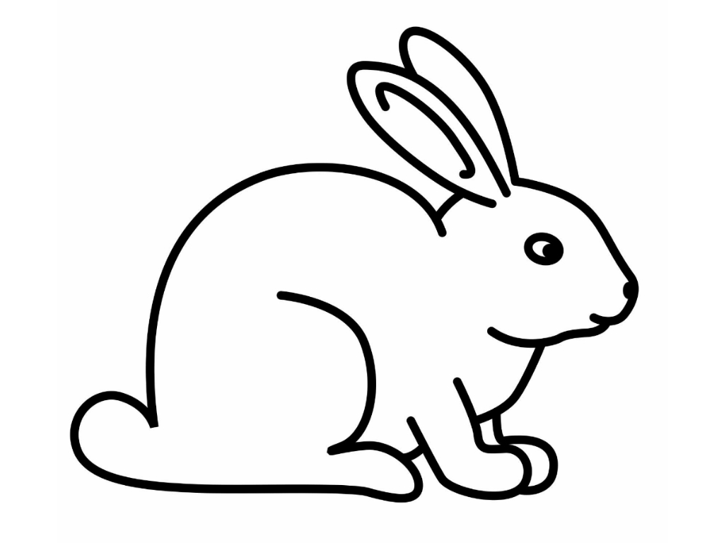 rabbit pictures for kids cute cartoon bunny for kids coloring page h m coloring for rabbit kids pictures