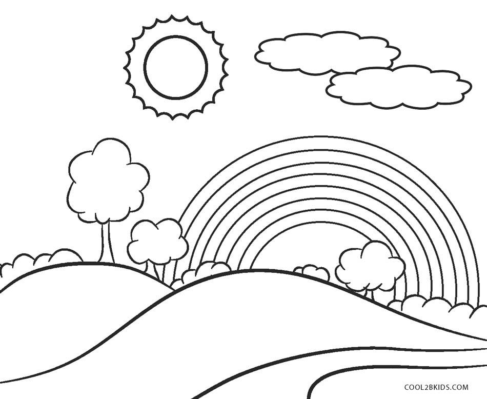 rainbow coloring page hello kitty rainbow coloring page free printable page rainbow coloring