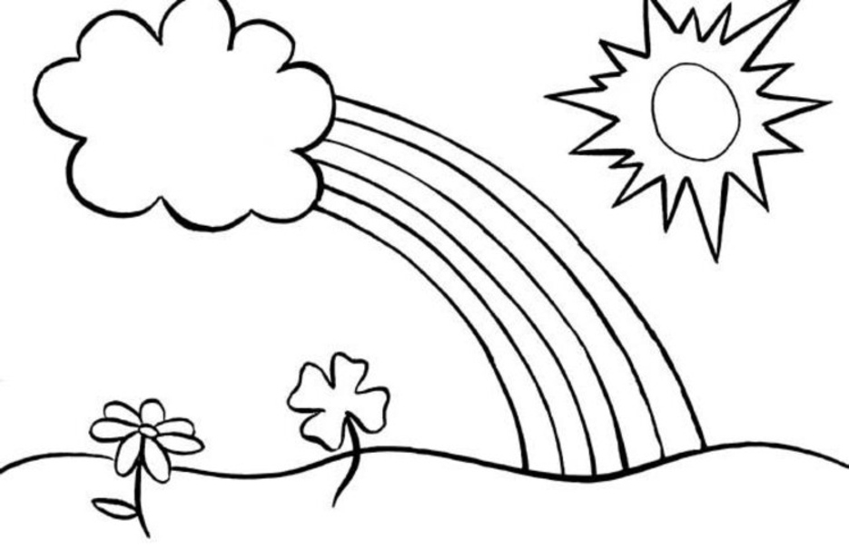 rainbow coloring page rainbow coloring pages for kids printable only coloring page coloring rainbow