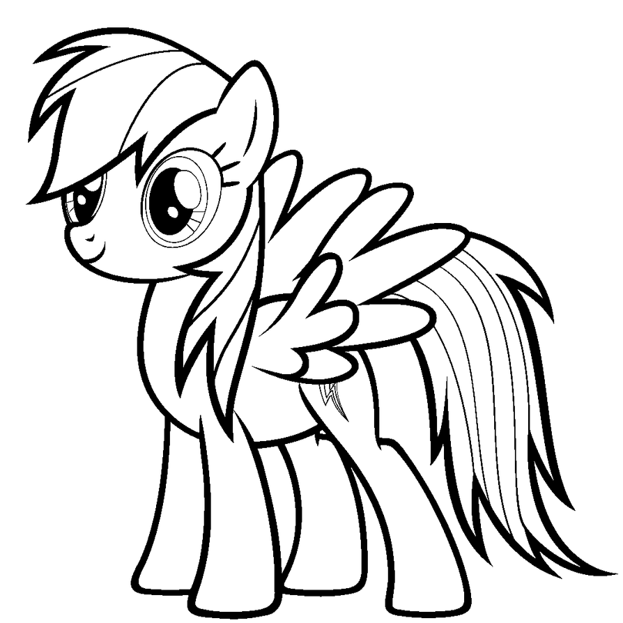 rainbow dash colouring pages 39paint friendly39 rainbow dash lineart by ikillyou121 on dash pages colouring rainbow