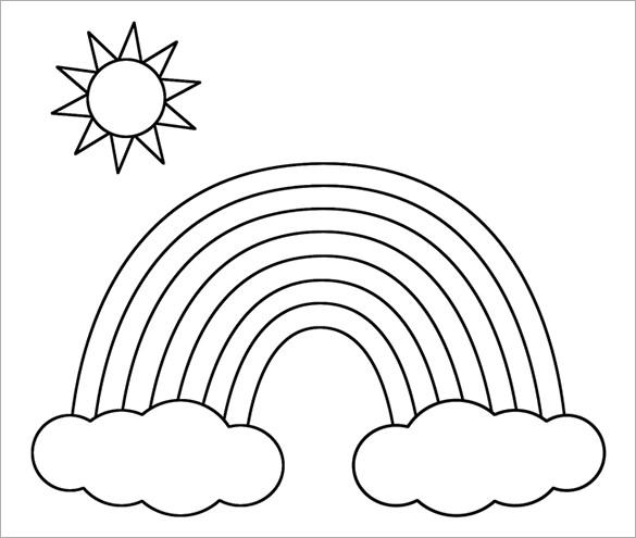 rainbow printable free printable rainbow coloring pages for kids rainbow printable