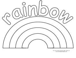 rainbow printable free printable rainbow templates small medium large printable rainbow