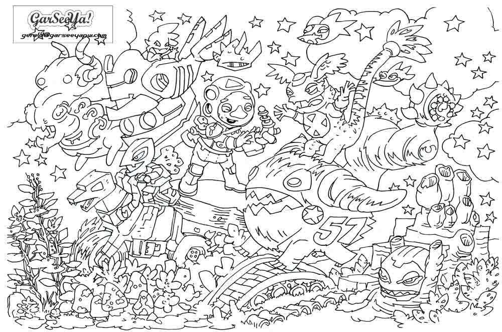 random coloring pages garseeya random lines colouring pages coloring random pages