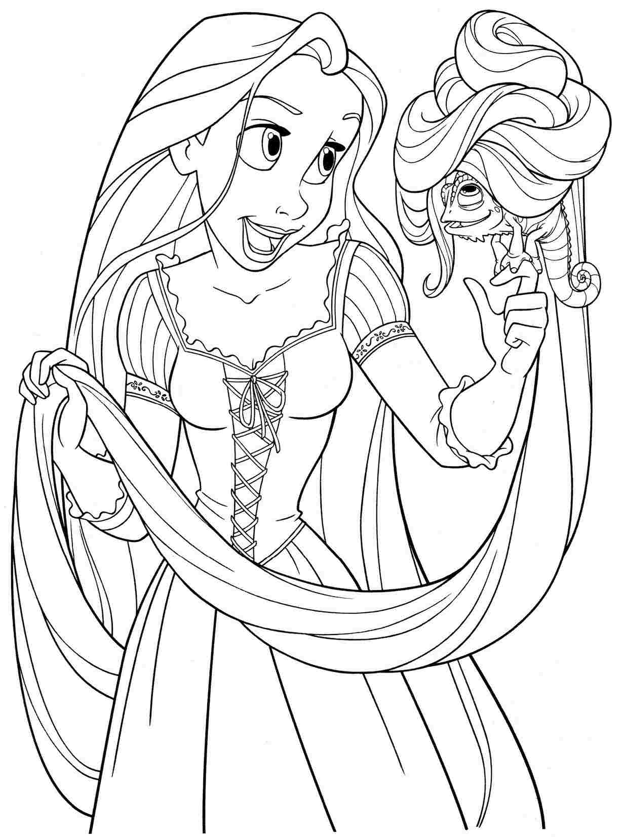 rapunzel images for coloring 170 free tangled coloring pages feb 2020 rapunzel images coloring for rapunzel