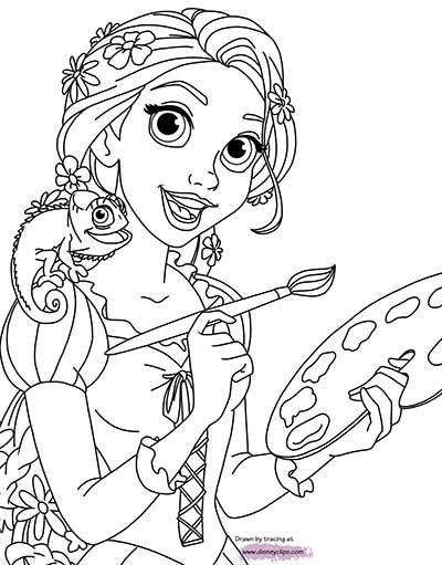rapunzel images for coloring 170 free tangled coloring pages july 2018 rapunzel for rapunzel images coloring
