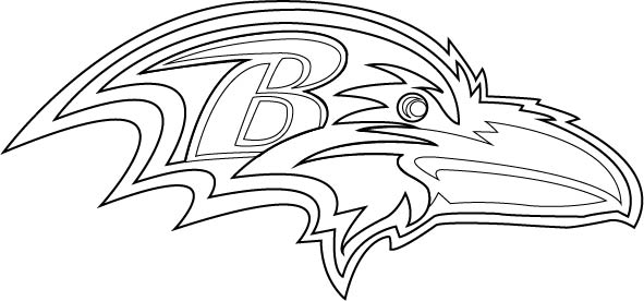 ravens coloring pages baltimore ravens logo coloring page free nfl coloring coloring ravens pages