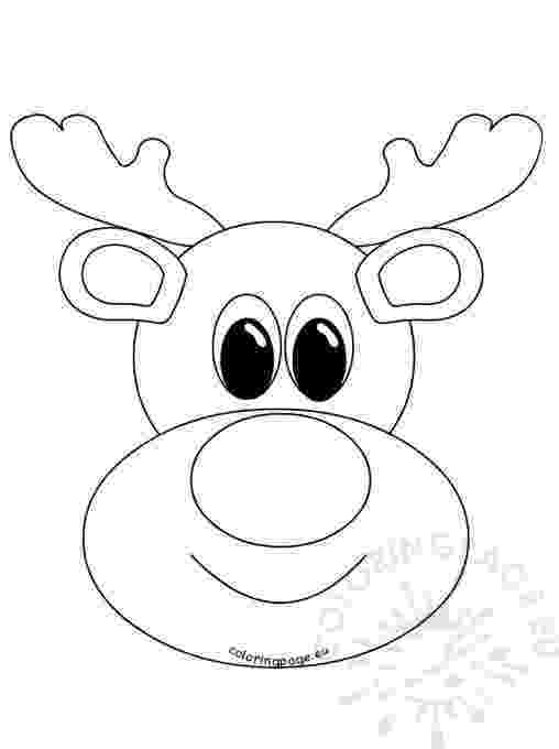 reindeer face coloring page holiday coloring page reindeer coloring page face
