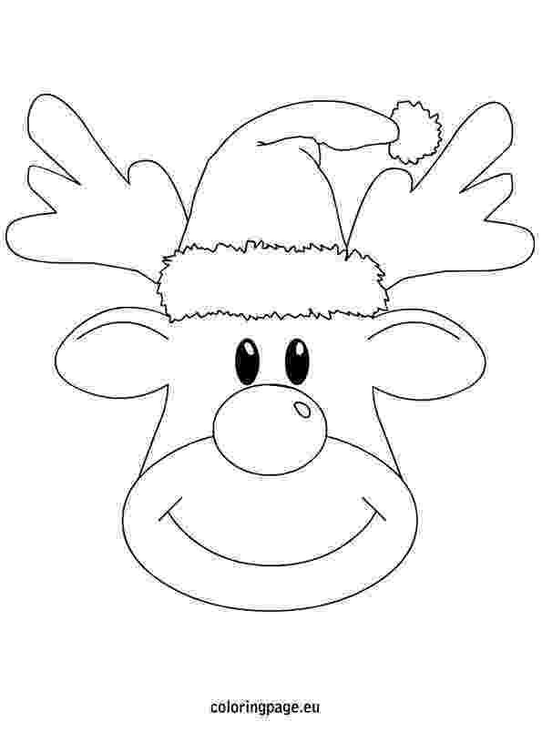 reindeer face coloring page printable reindeer face craft antlers or handprints reindeer face coloring page