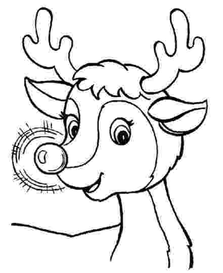 reindeer face coloring page reindeer face coloring pages part 2 reindeer page coloring face