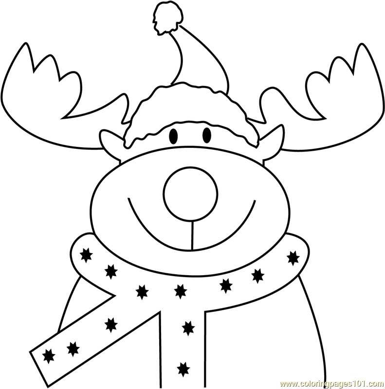 reindeer face coloring page reindeer face rudolph coloring page coloringcrewcom reindeer page face coloring