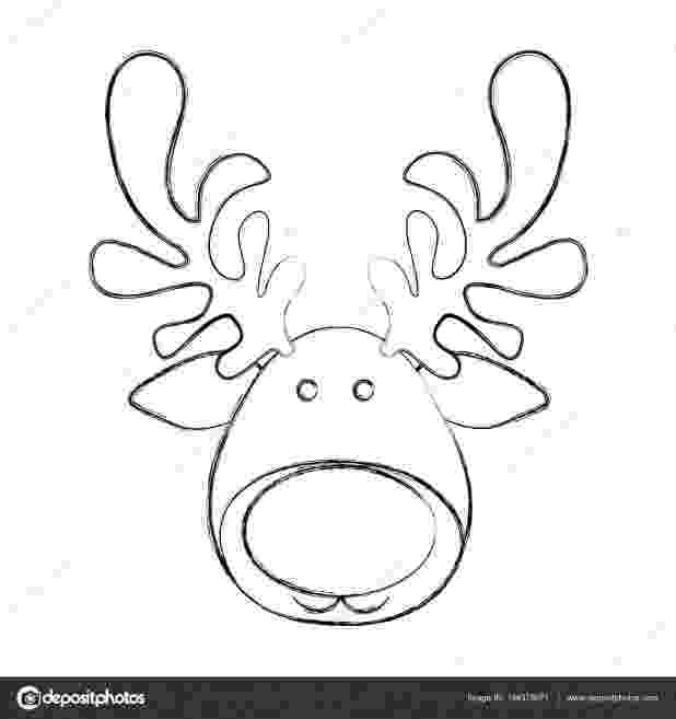 reindeer face coloring page related coloring pagesmerry christmaschristmas reindeer page face coloring
