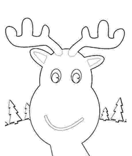 reindeer face coloring page rudolph face template templates pinte page face reindeer coloring