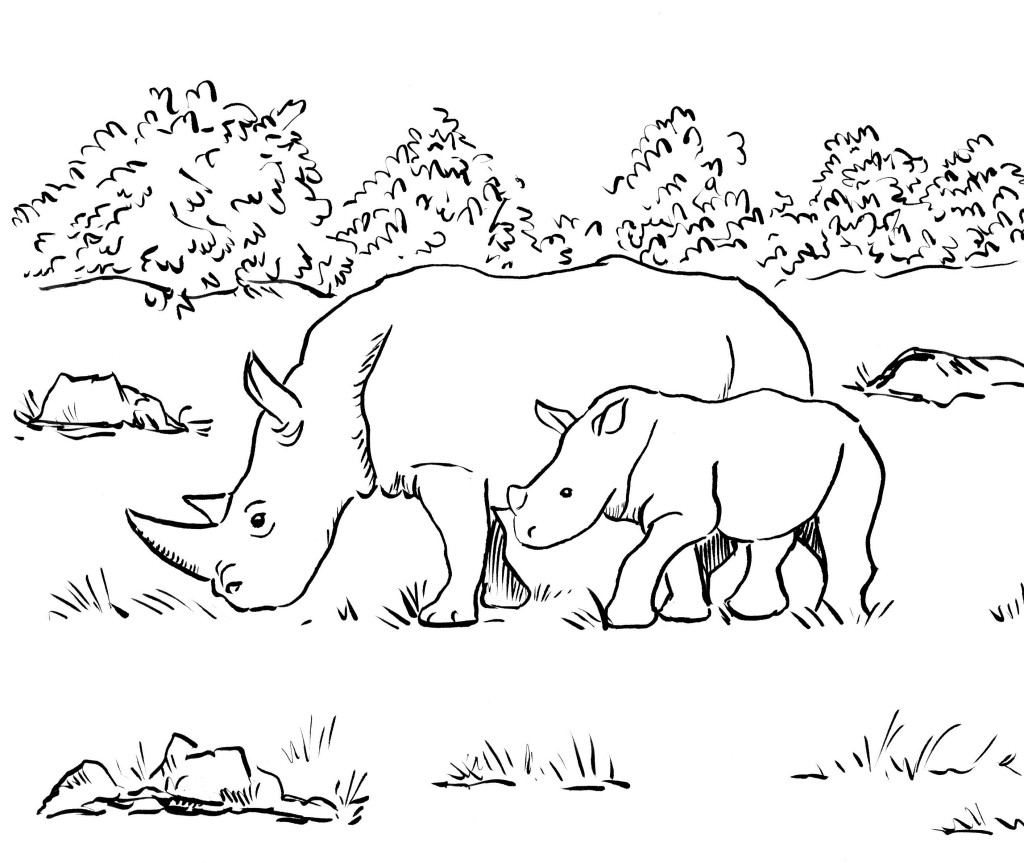 rhinoceros coloring page rhino coloring pages coloringpagesabccom page coloring rhinoceros