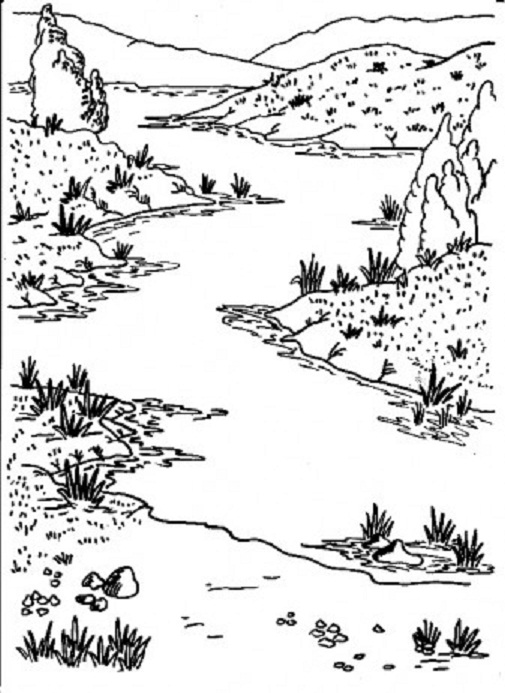 river coloring pages landscape coloring pages coloring pages river