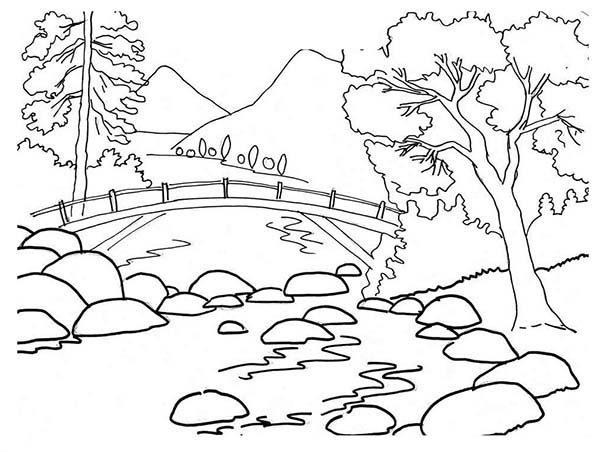 river coloring pages mountain and valley coloring page coloring pages river pages coloring