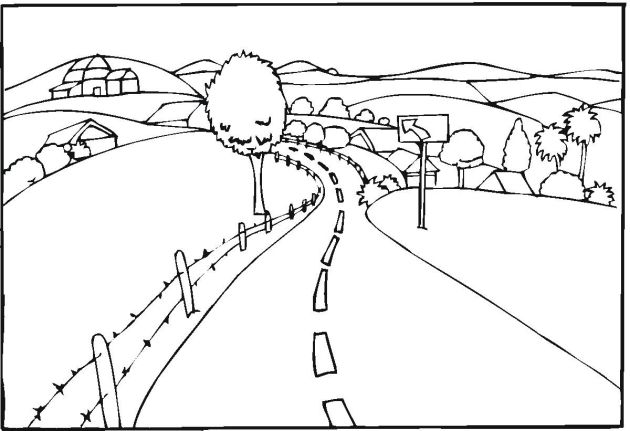 road coloring page learning years child safety coloring page safe swim page coloring road
