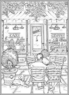 romantic country coloring book 好圖試讀浪漫國度鴨子喬瑟與小女孩艾蓮娜的冒險之旅著色書附贈立體紙上劇場romantic country coloring country romantic book