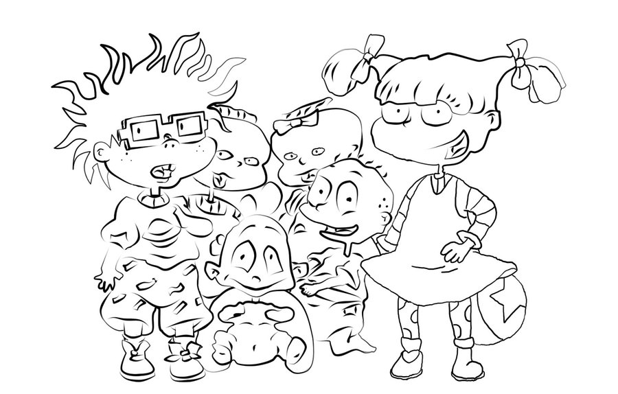 rugrats coloring pages to print free printable rugrats coloring pages for kids coloring rugrats to print pages