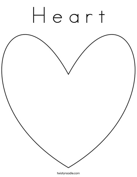 s in a heart h e a r t coloring page twisty noodle in s a heart