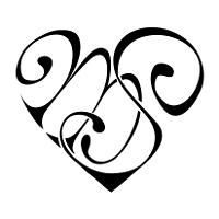 s in a heart quotsdquot heart design a custom design of the initials quotsd heart s in a