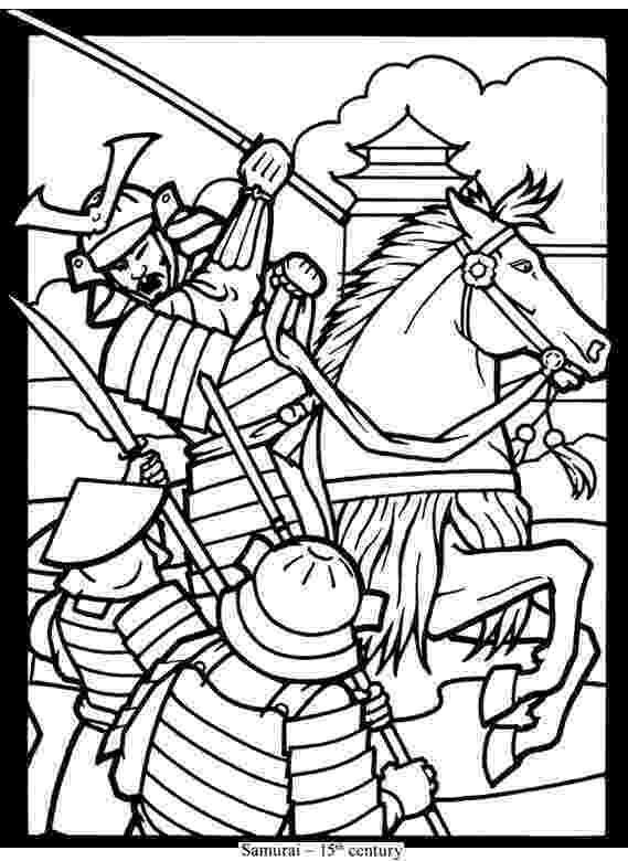 samurai coloring pages armored samurai with sword coloring page free printable coloring pages samurai