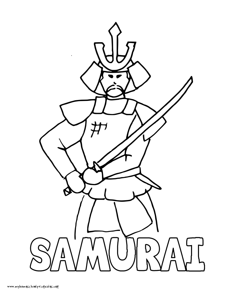 samurai coloring pages my homeschool printables history coloring pages volume 2 coloring samurai pages