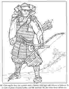 samurai coloring pages samurai stained glass coloring book dover publications coloring samurai pages