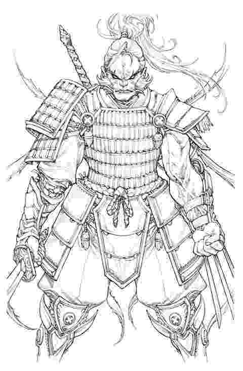 samurai coloring pages samurai wearing an Ō yoroi coloring page free printable pages samurai coloring
