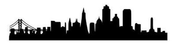 san francisco skyline vector san francisco city skyline vector illustration by bolasz san vector skyline francisco