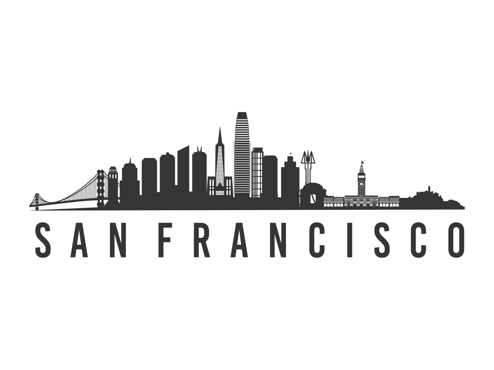 san francisco skyline vector san francisco skyline silhouette free vector silhouettes vector skyline francisco san