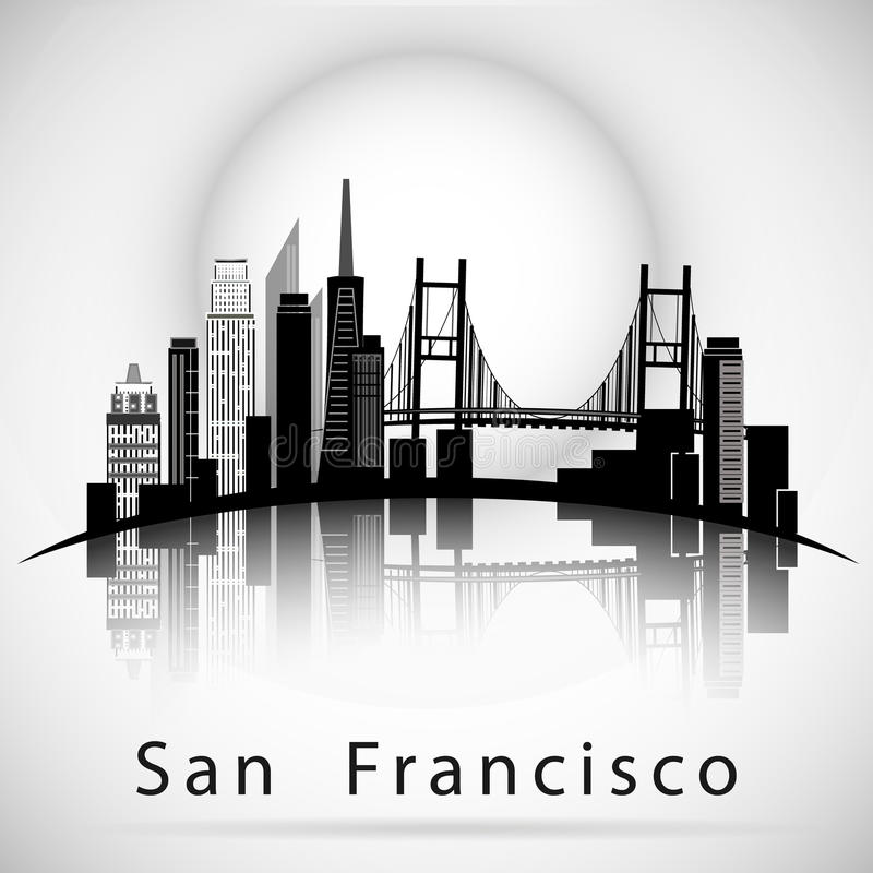 san francisco skyline vector san francisco skyline silhouette svg studio 3 dxf ai ps skyline san francisco vector