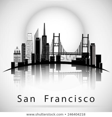 san francisco skyline vector skyline of san francisco vector design template vector vector skyline francisco san