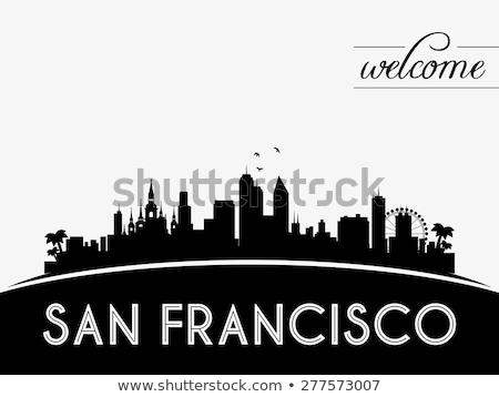 san francisco skyline vector stock images similar to id 192894770 black and white vector skyline francisco san