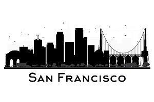 san francisco skyline vector usa cities landmarks illustrations on creative market vector francisco skyline san